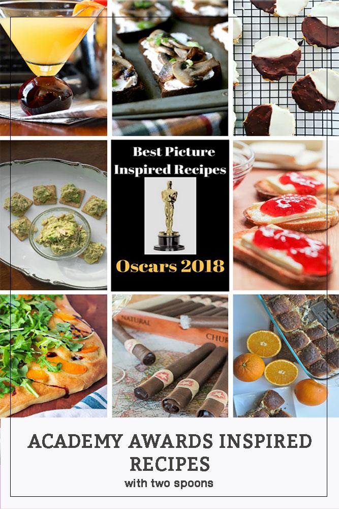 Academy Awards Inspired Recipes including our Orange Vanilla Martini