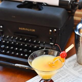 Orange Vanilla Martini with typewriter