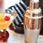 Orange Vanilla Martini with frosty shaker