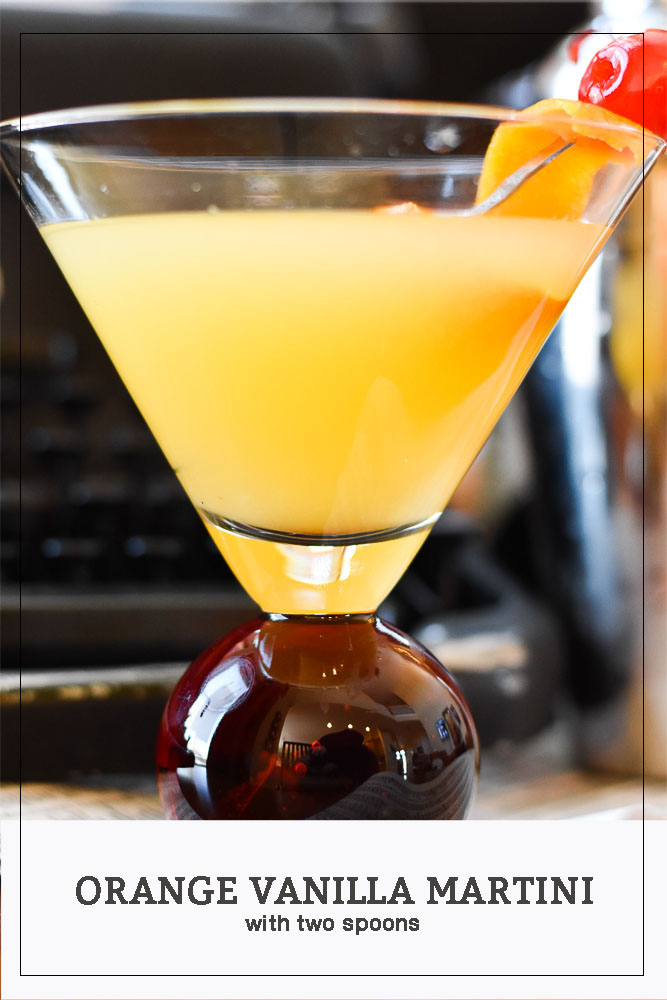 Orange Vanilla Martini Long Pin