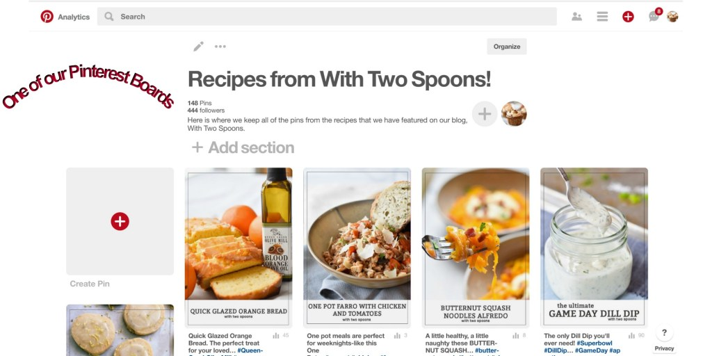 Pinterest Board of Recipes