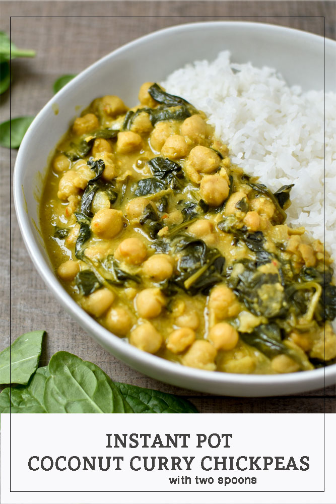 Instant Pot Coconut Curry Chickpeas