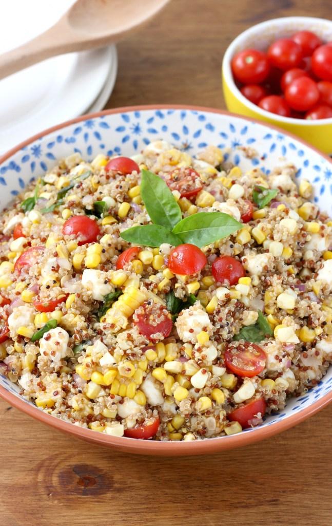 Caprese Quinoa Salad by A Kitchen Addiction. Minnesota Summer