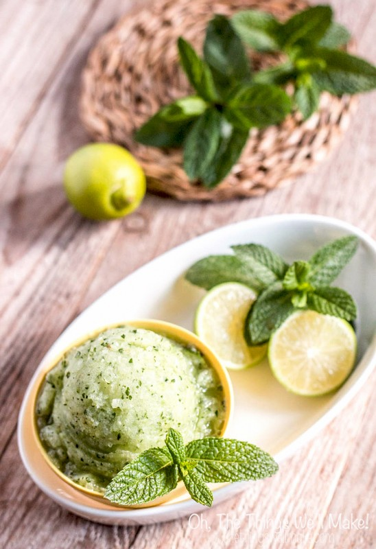 Mojito Sorbet by The Things We'll Make. Popsicle and Sorbet Recipes