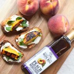 Basil and Balsamic Peach Bruschetta