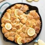 Lemon Cardamom Skillet Monkey Bread