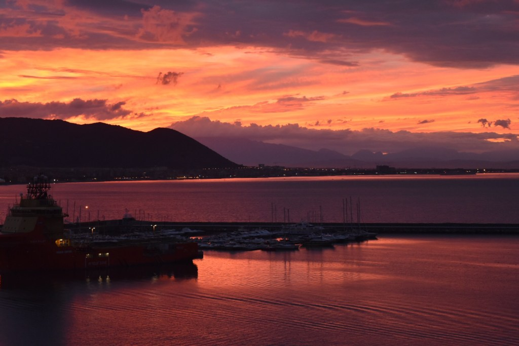 Sunrise in Salerno, Italy
