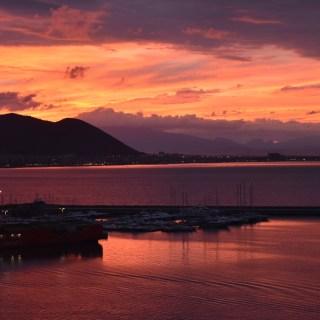 Sunrise in Salerno, Italy