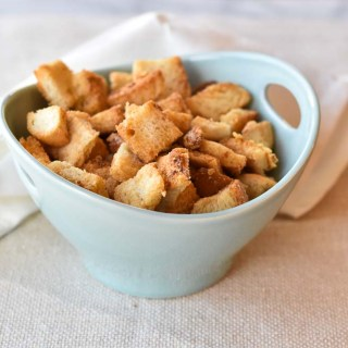Easy Parmesan Brown Butter Croutons