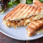 Caramelized Onion, Apple, and Brie Grilled Cheese