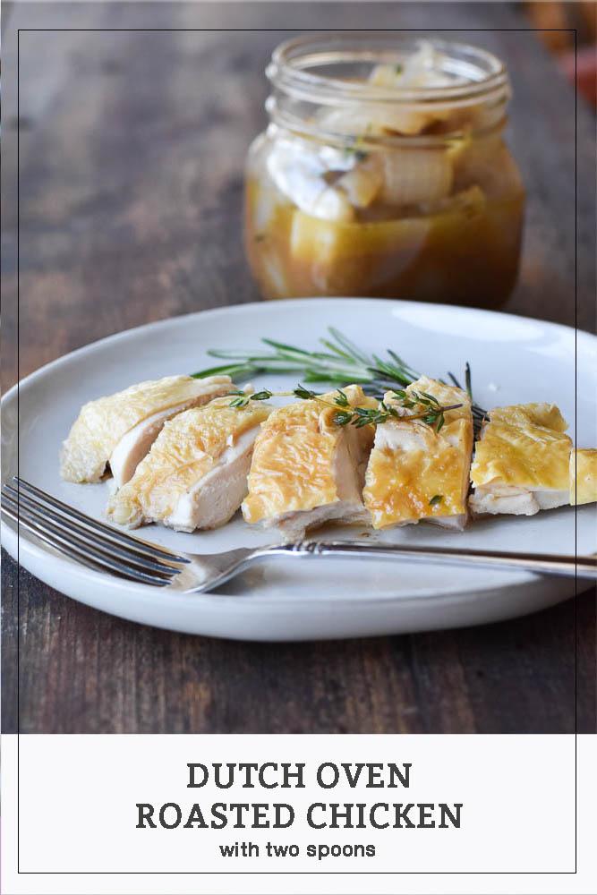 Dutch Oven Roasted Chicken Pinterest Photo