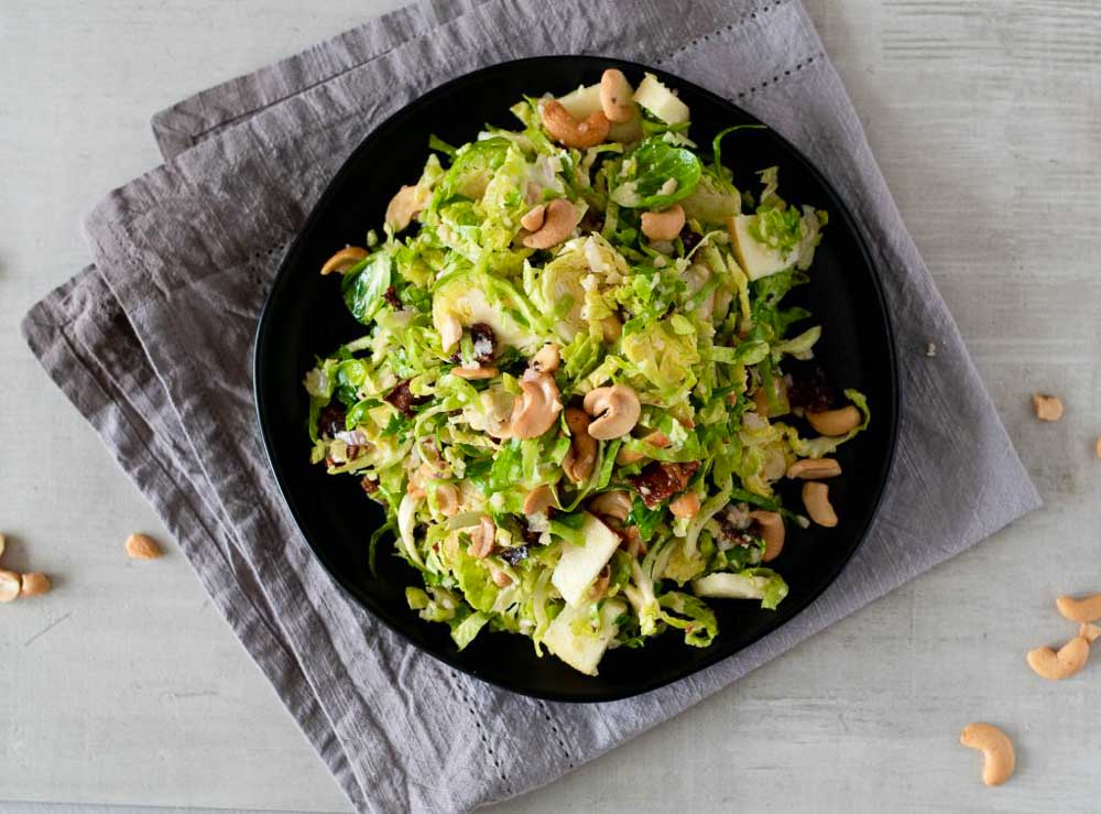 Apple Brussels Spouts Salad