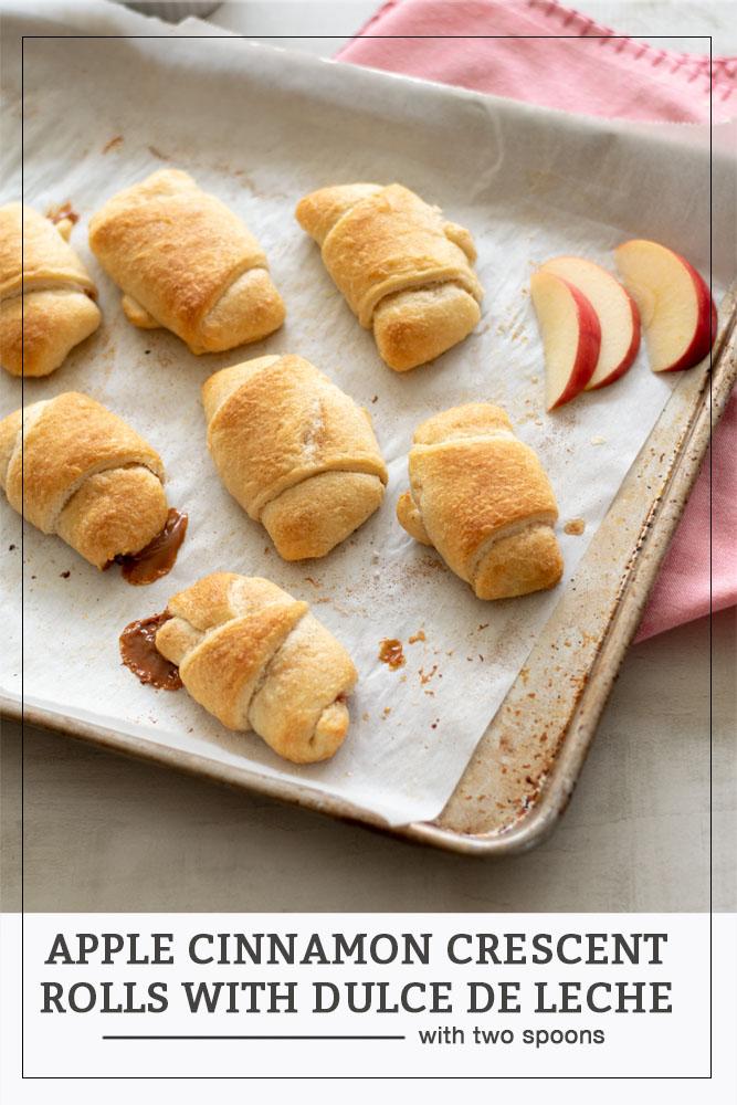 Apple Cinnamon Crescent Rolls with Dulce de Leche