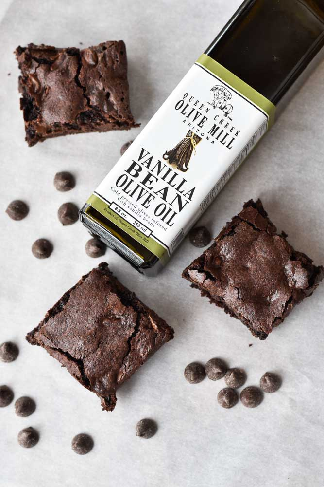 Double Chocolate Olive Oil Brownies with Queen Creek Olive Oil