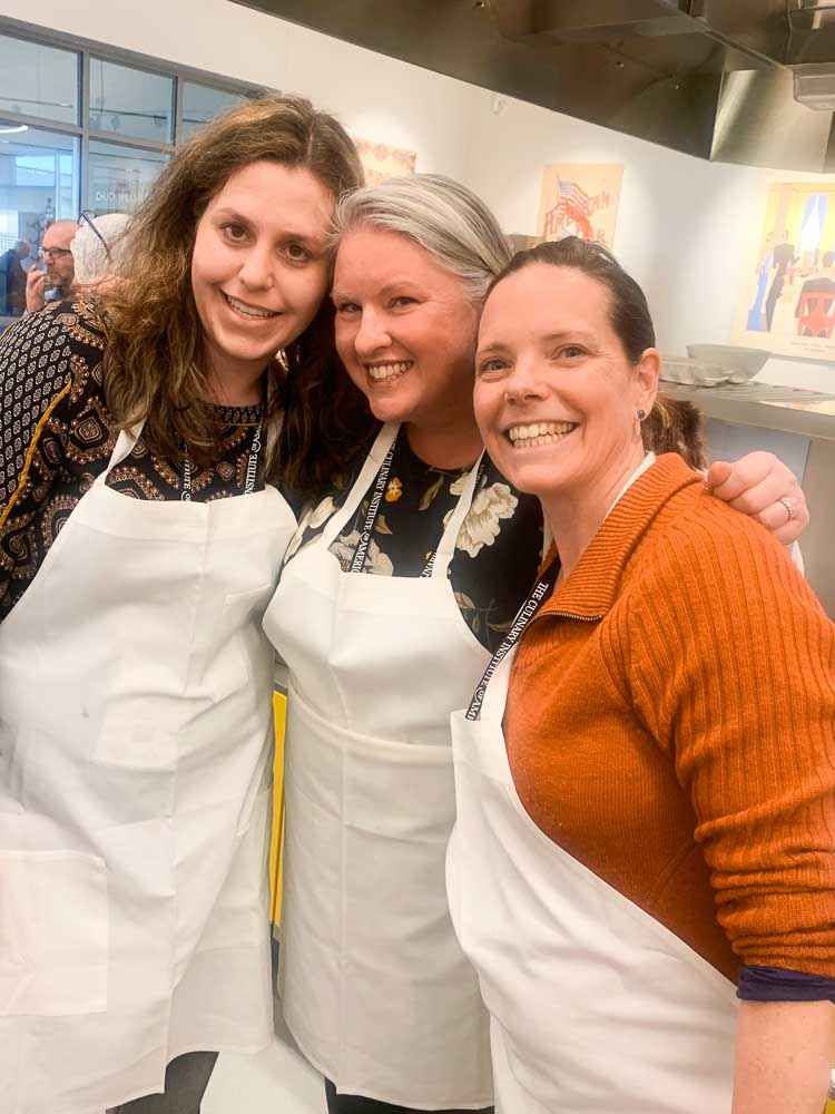 Making new friends during the kitchen portion of Healthy Kitchens