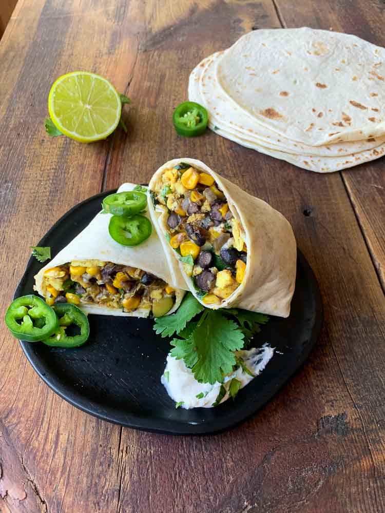 Summer Vegetable Breakfast Burrito