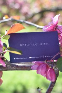 Beauty Counter card with flowers