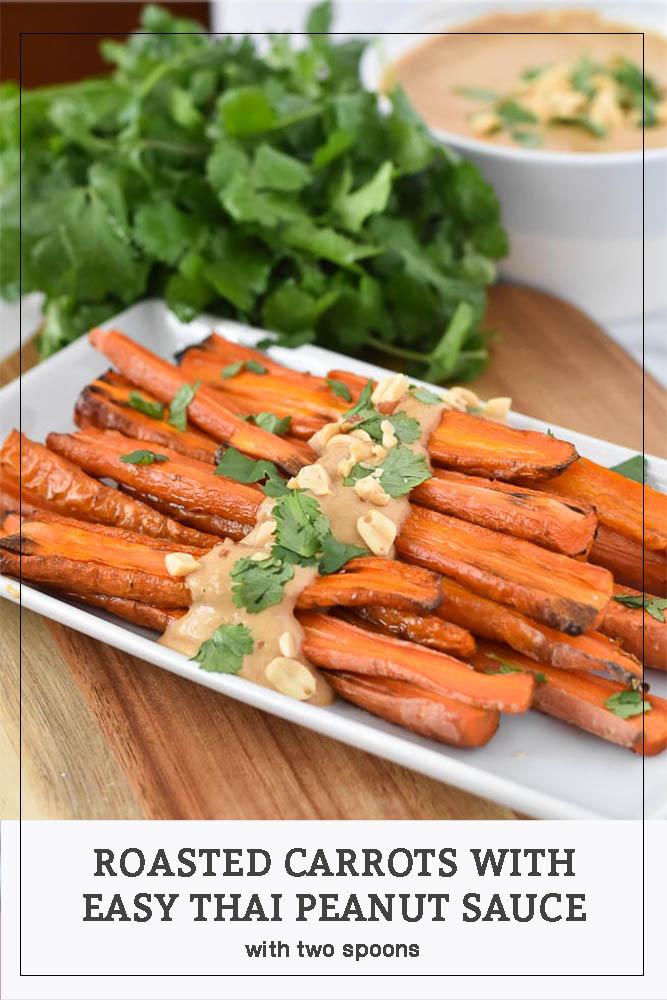 Roasted Carrot with Peanut Sauce Pinterest Photo