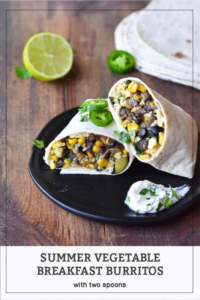 Summer Vegetable Breakfast Burritos Pinterest Photo