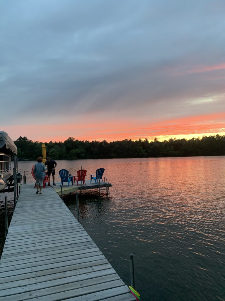 Sunsets at the cabin