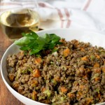 Simple Lentil Salad with Roasted Root Vegetables