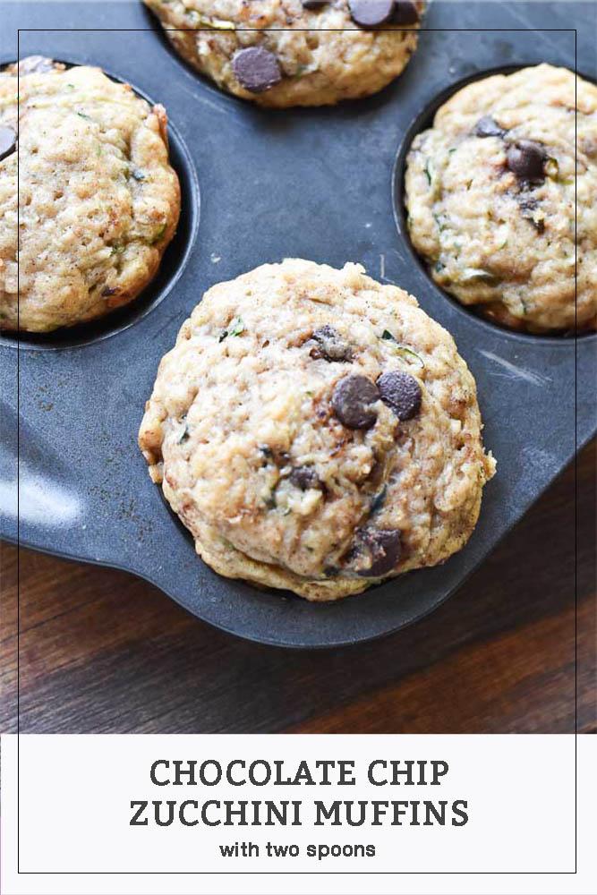 Chocolate Chip Zucchini Muffins Pinterest Pin