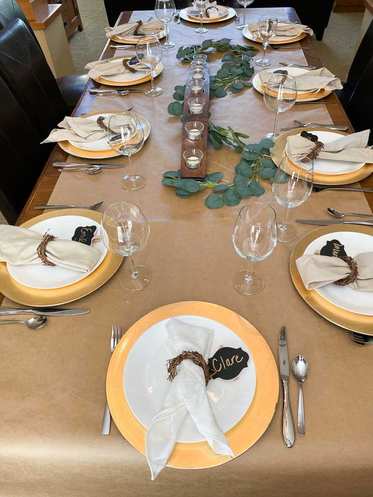 Table set for the Dinner Party