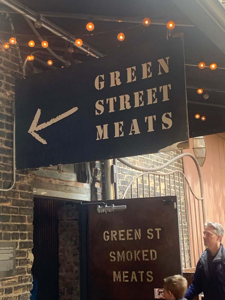 The door at Green Street Meats