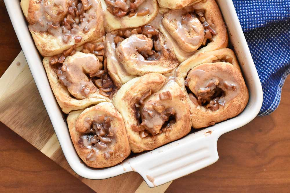 A plan of apple cinnamon rolls