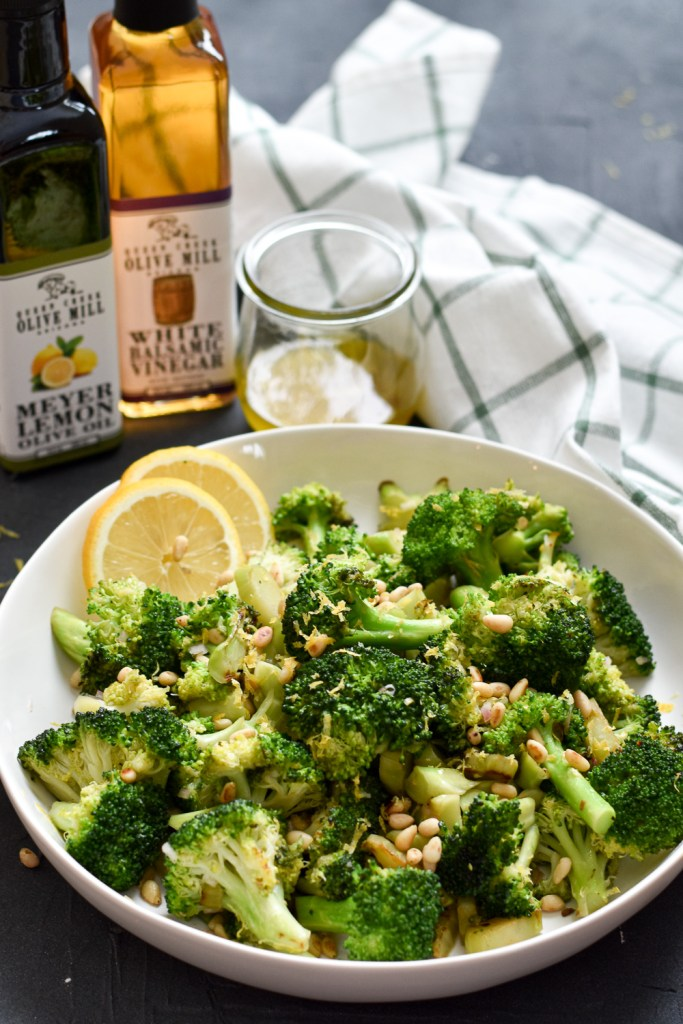 Pan Roasted Broccoli with Lemon Shallot Vinaigrette