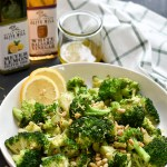 Skillet Roasted Broccoli with Lemon Shallot Vinaigrette