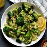 Pan Roasted Broccoli with Lemon Shallot Vinaigrette