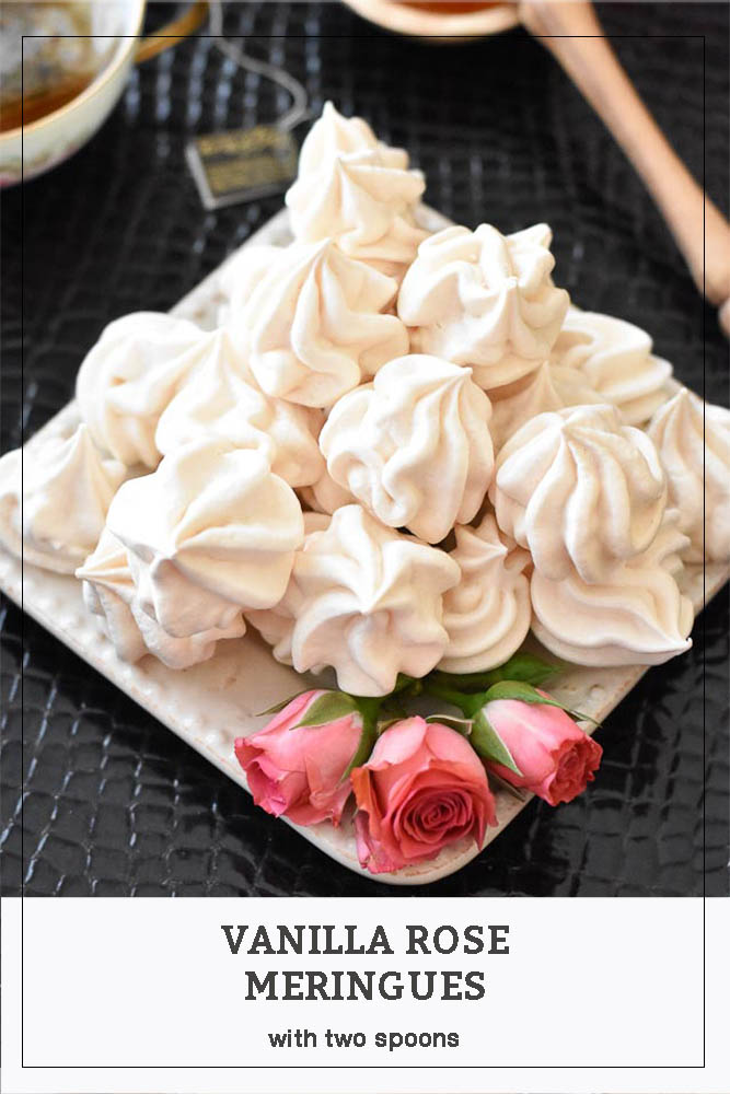 Vanilla Rose Meringues Pinterest Long Pin