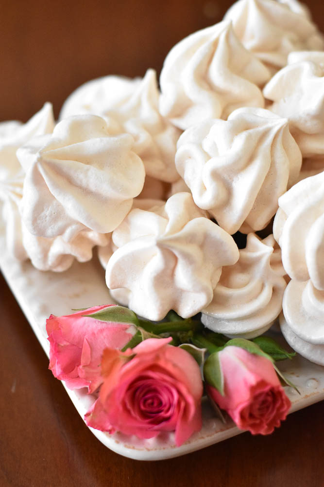 Vanilla Rose Meringues up close