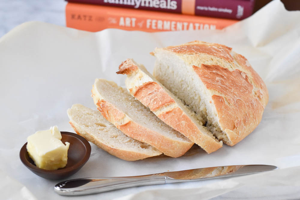 Sliced Dutch Oven Bread