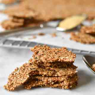 Simple Flax Seed Crackers