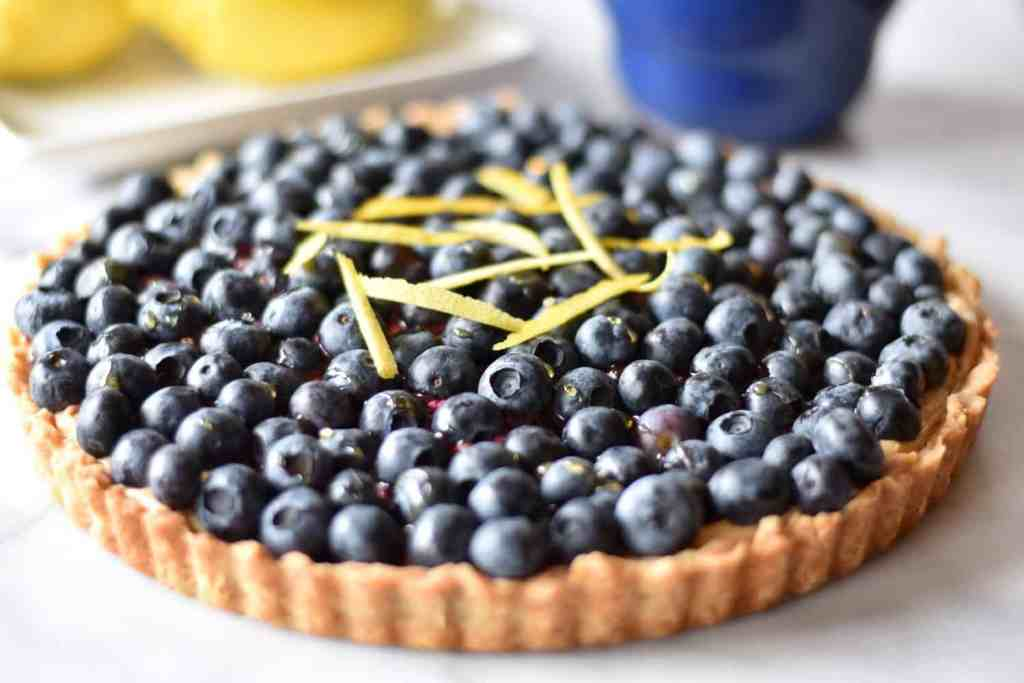 Blueberry Lemon Cream Cheese Tart