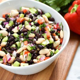 No Cook Summer Bean Salad