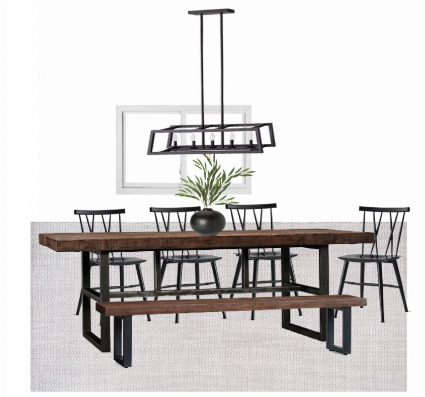 mixing styles of interior design - dining