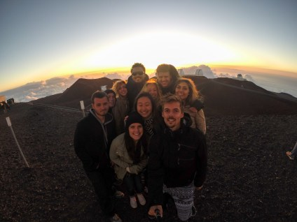 Part of our team on top of Maunakea. It felt like home - it was freezing! Photo Cred: Josh Gray