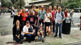 The full WITNESS crew at the NYC People's Climate March, Sept. 21st 2014.