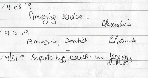 Testimonials from our patients