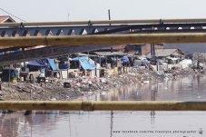 The river of trash and stink.