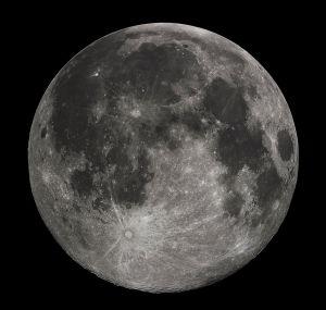 ภาพดวงจันทร์ด้านที่หันเข้าหาโลก (http://en.wikipedia.org/wiki/Moon#mediaviewer/File:FullMoon2010.jpg)