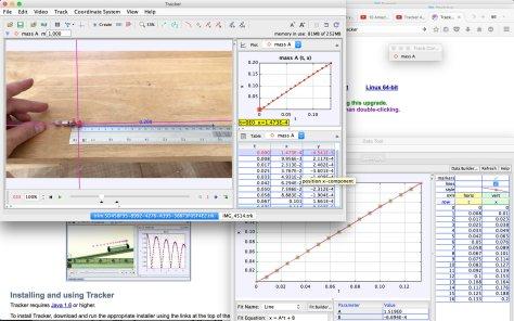 หน้าตาโปรแกรม Tracker ครับ มีประโยชน์มากสำหรับการเรียนวิทยาศาสตร์