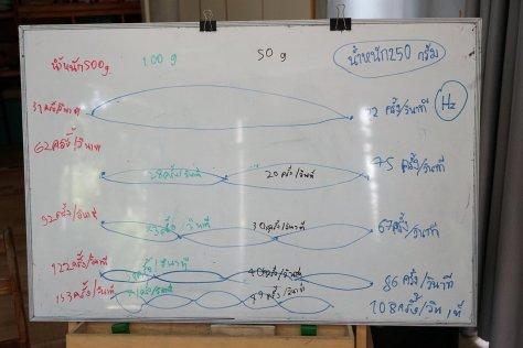 ความถี่ธรรมชาติ เชือกแดง/ขาว  มัดพัสดุ ความยาว 108 เซ็นติเมตร ถ่วงด้วยน้ำหนักต่างๆ