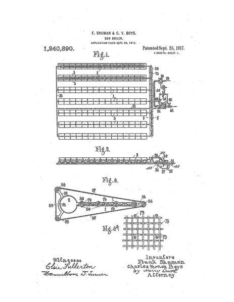 สิทธิบัตรเครื่องจักรของ Frank Shuman