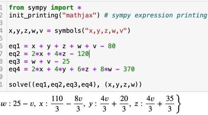 วิทย์ม.ต้น: หัดใช้ SymPy สำหรับโจทย์เลขสัญญลักษณ์, ใช้ Microsoft Math ช่วยแก้และสร้างโจทย์
