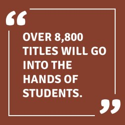 8800 titles in students hands