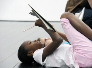 Kids Writing Menil Watchful Eye